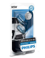 Габаритные галогенные автолампы Philips White Vision W5W 12V 5W